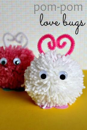 Love bug pom poms