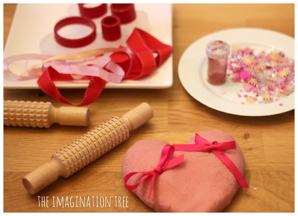 Raspberry Jelly Valentines Play Dough