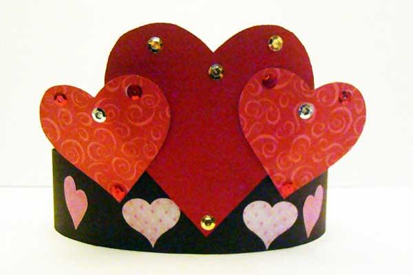 Valentines Day Paper Crown
