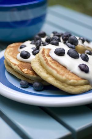 Skinny blueberry pancakes