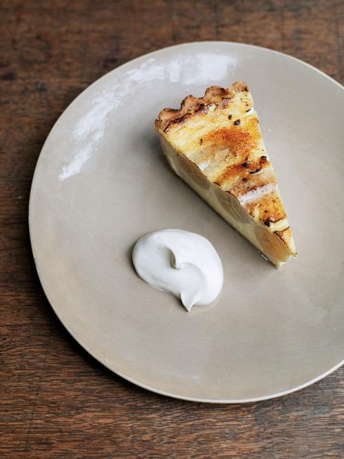 Banana and custard tart