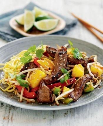 Fruity beef stir-fry