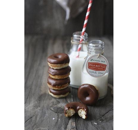 Mini doughnuts de chocolate