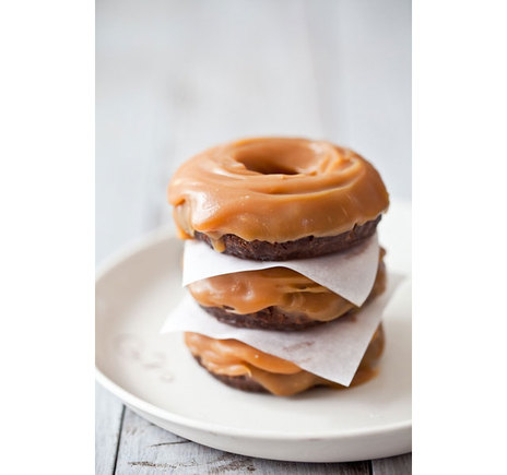 Gluten-free candy filled chocolate donuts