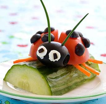 Tomato and Olive Ladybug