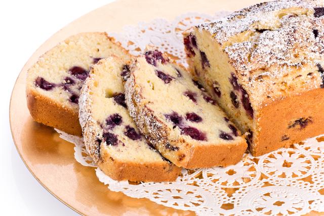 Orange and blueberry loaf cake
