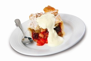 Berry and apple pie