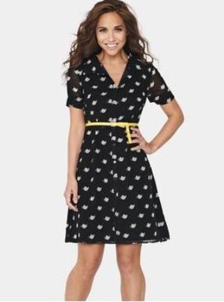 Teapot Print Dress