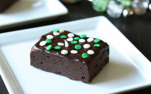 St Patricks day brownies