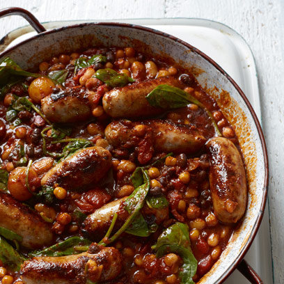 Sausage and beans