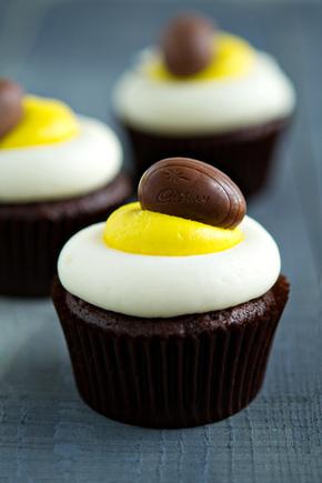 Cadburys Creme egg cupcake