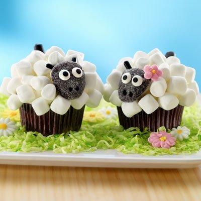 Spring lamb cupcakes