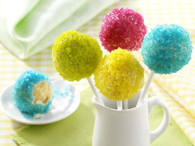 Neon cake pops
