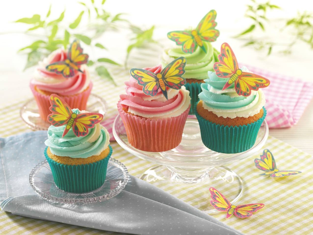 Butterfly swirl cupcakes