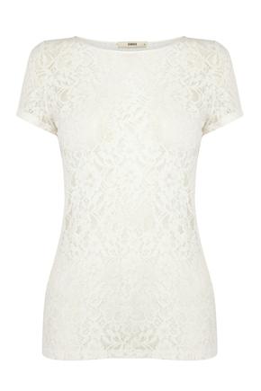 Lace white t-shirt