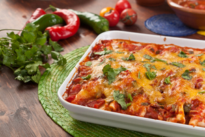 Spinach and ricotta enchiladas
