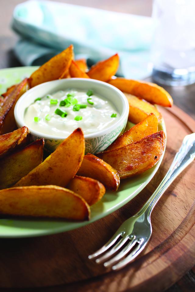 Tom's low fat potato wedges