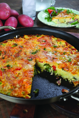 Peters 15 minute smoked bacon and potato frittata