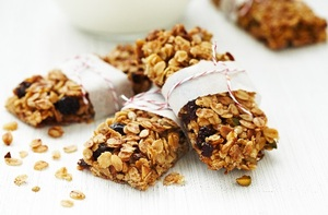 Traditional oatmeal flapjack