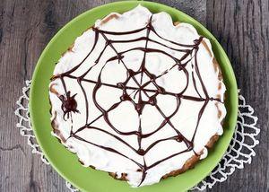 Spider web brownie pie