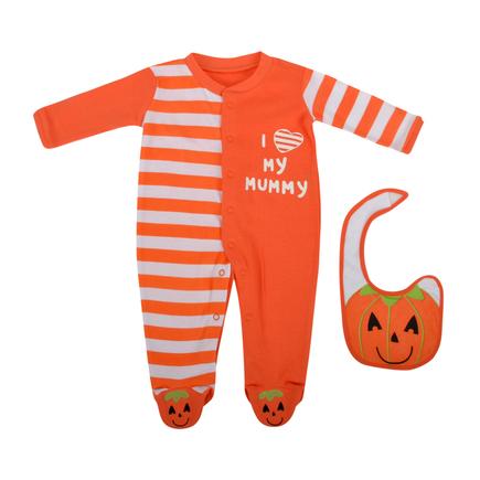 Halloween Sleepsuit and Bib Set