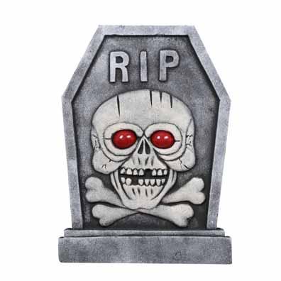 Light Up Halloween Tombstone