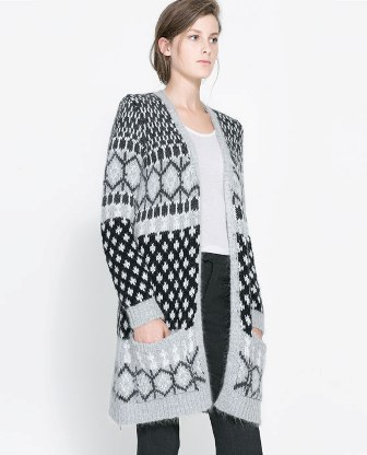 Long Jacquard Cardigan