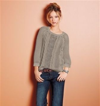 Lace Cable Sweater