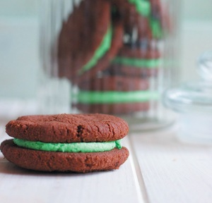 Chocolate mint cookies