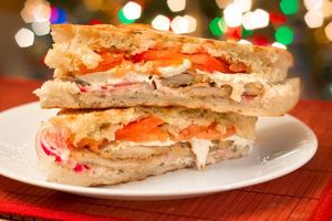 Pumpkin puree and chicken panini