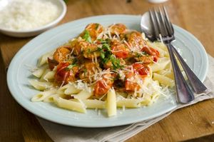 Penne with chorizo, cannellini and kale recipe