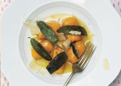 Pumpkin gnocchi with sage brown butter