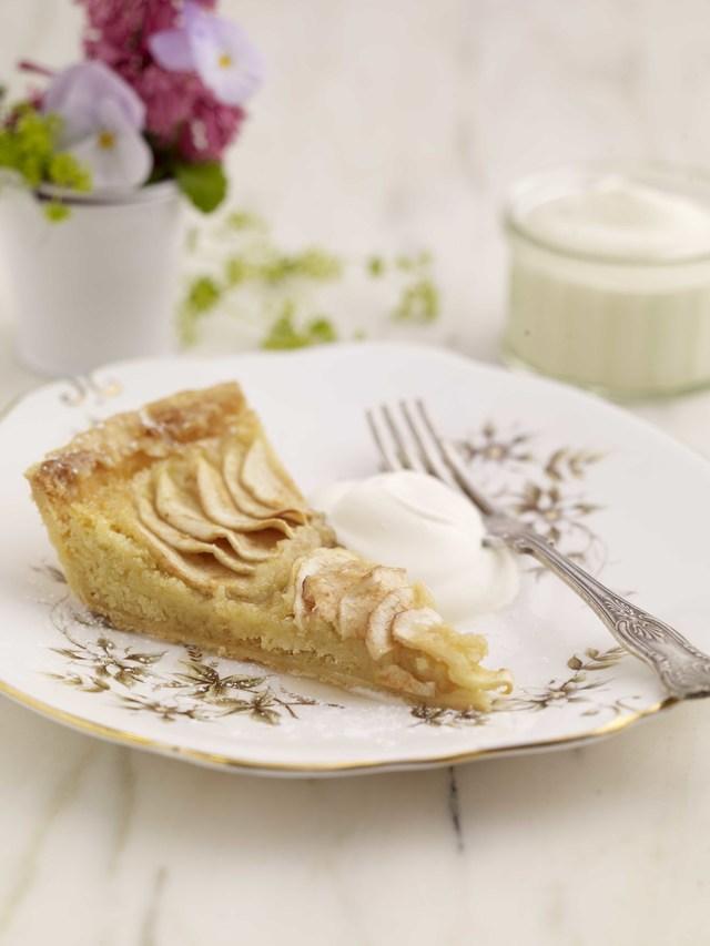 Bramley apple and frangipane tart