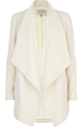 White Waterfall Coat