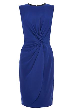 Oasis Blue Drap Dress