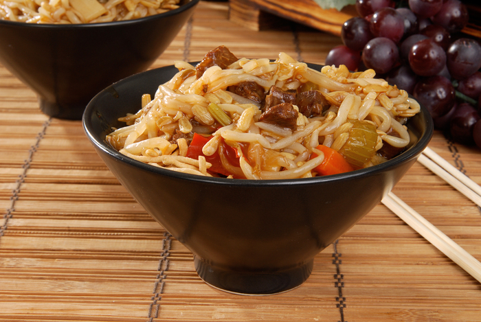 Lamb chow mein