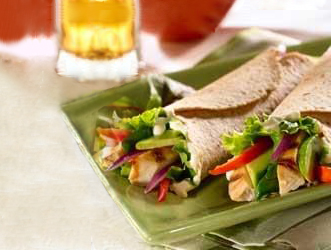 Chicken and avocado wraps