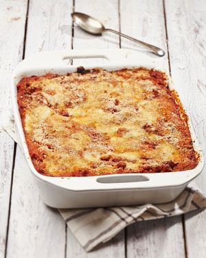 Bacon and tomato pasta bake
