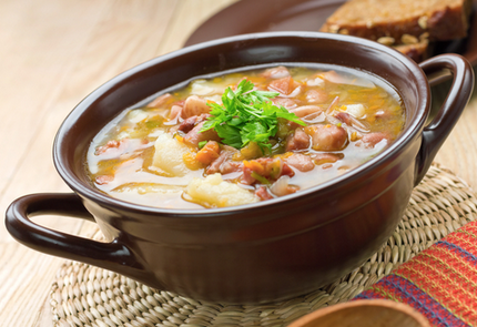 Bacon, potato and cheese soup