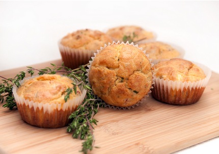 Cheese and bacon muffins