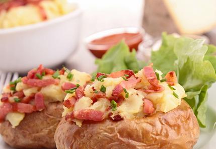 Bacon and cheese baked potato