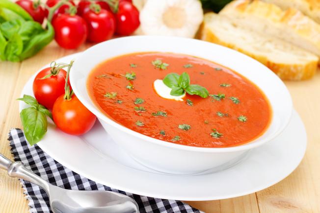 Bacon and tomato soup