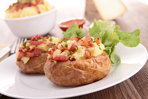 Bacon and cheese baked potato