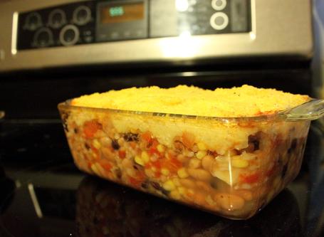 Easy Mexican bean casserole
