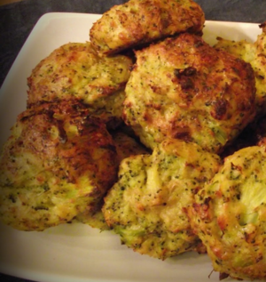 Baked broccoli bites