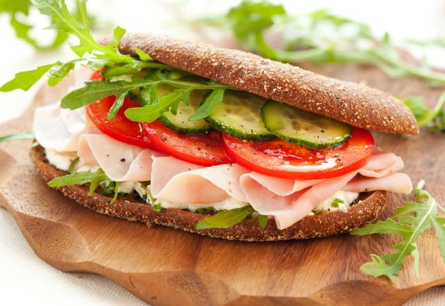 Ham and paprika mayo sandwich