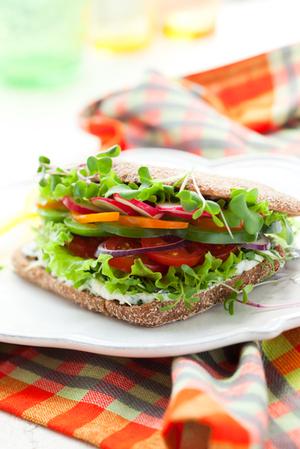 Salad sandwich with Hellmann's Light Mayonnaise