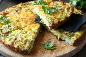 Potato frittata with chorizo