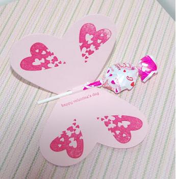 Love heart butterfly