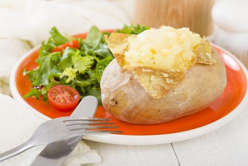 Jacket potato with sour cream